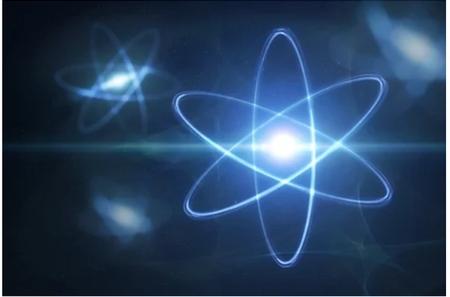 blue-purplish ions against a dark background