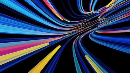 streaks of colorful light