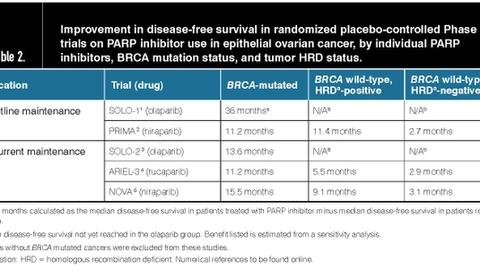PARP inhibitors: Choosing what to use in epithelial ovarian cancer