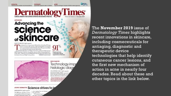 The November 2019 Issue of Dermatology Times
