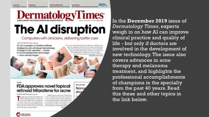 The December 2019 Issue of Dermatology Times