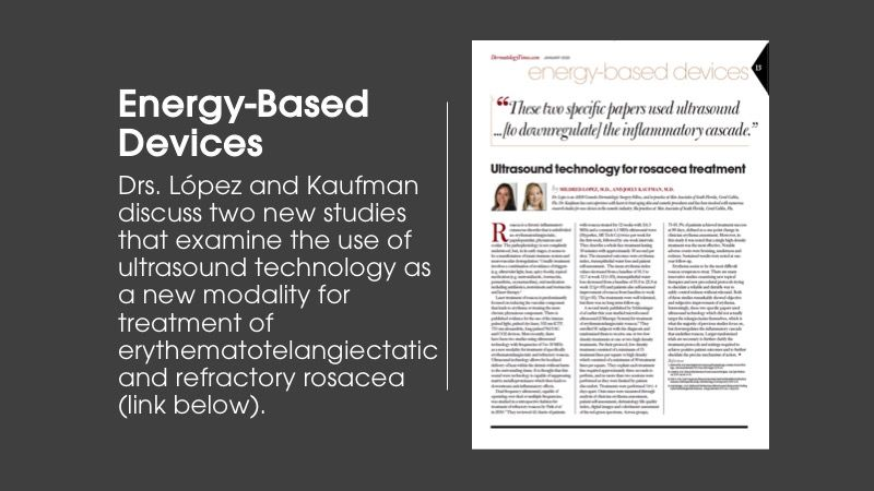 Energy-Based Devices column article from Dermatology Times January issue