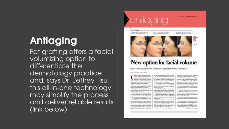 Antiaging article from Dermatology Times January issue