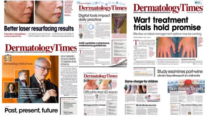 Dermatology Times issues from 2019