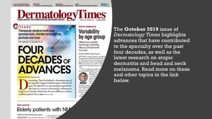 The October 2019 Issue of Dermatology Times