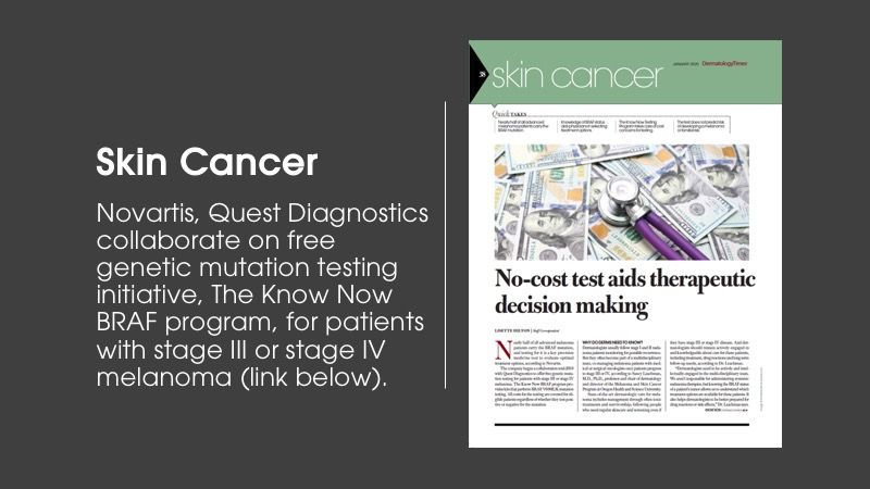 Skin cancer article from Dermatology Times January issue