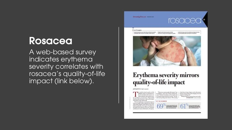 Rosacea article from Dermatology Times January issue