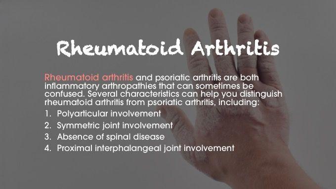 rheumatoid arthritis psoriatic arthritis differential diagnosis