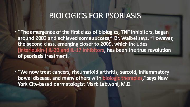 Biologics for Psoriasis