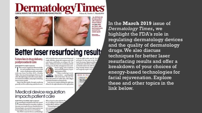 The March 2019 Issue of Dermatology Times