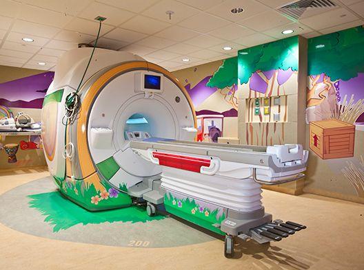 Safari-themed imaging room