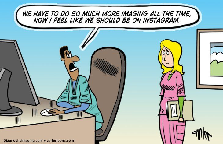 Wanting to be on instagram as a radiologist