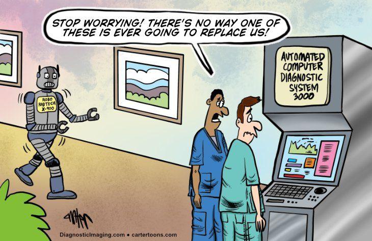 comic, robot taking rad techs job