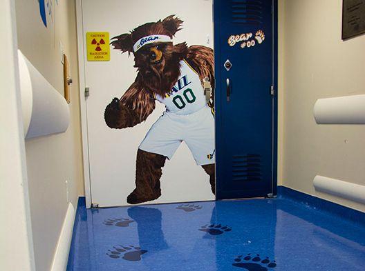 Utah Jazz-themed interventional room