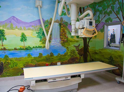 Mural radiology room