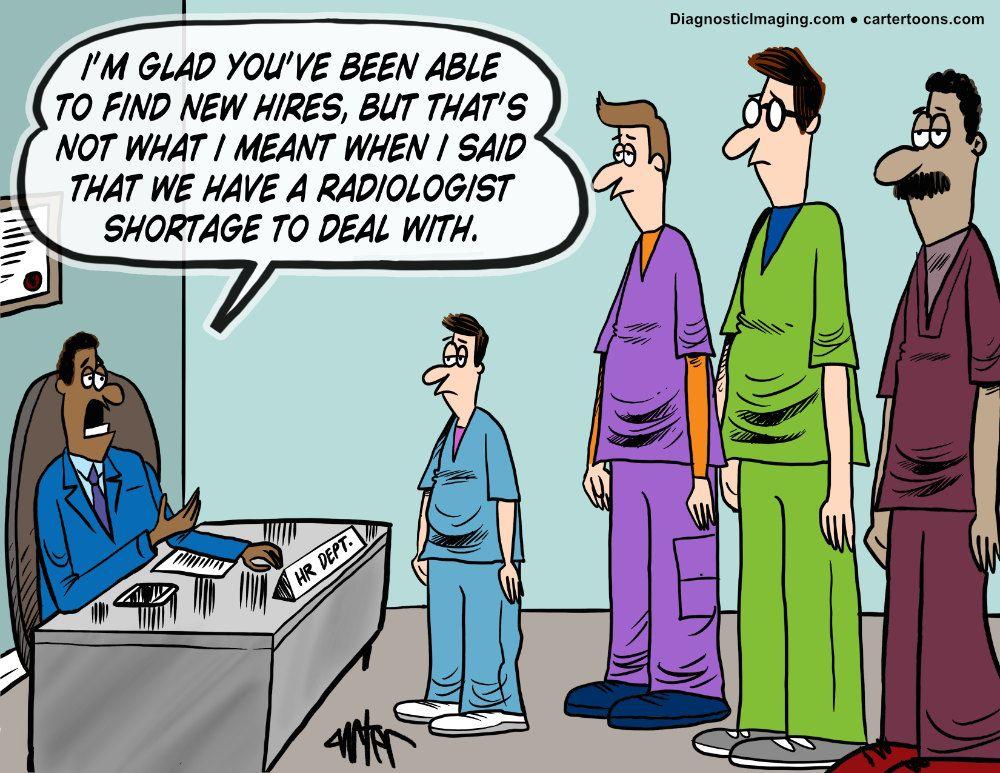 Radiology shortages comic
