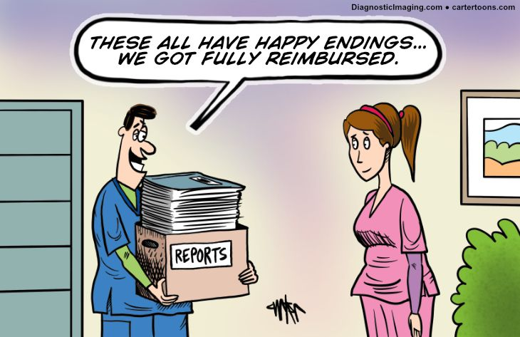 Comic, happy about reimbursement
