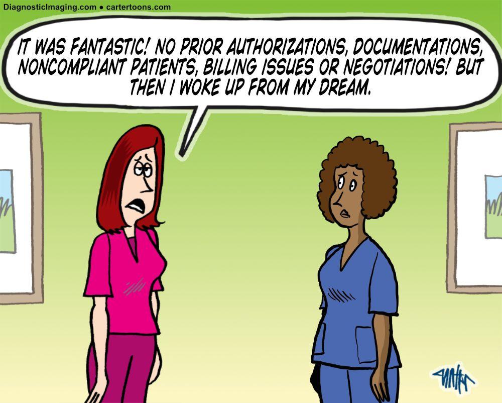 A radiologist's dream comic