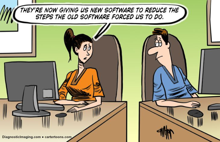 One doctor to another about new software to solve software problem