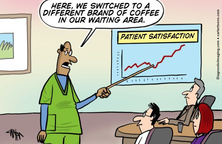 Comic, switching coffee leads to higher patient satisfaction