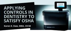 Applying Controls In Dentistry to Satisfy OSHA