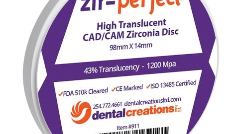 Solve My Problem: A highly translucent zirconia disc that doesn't forgo strength