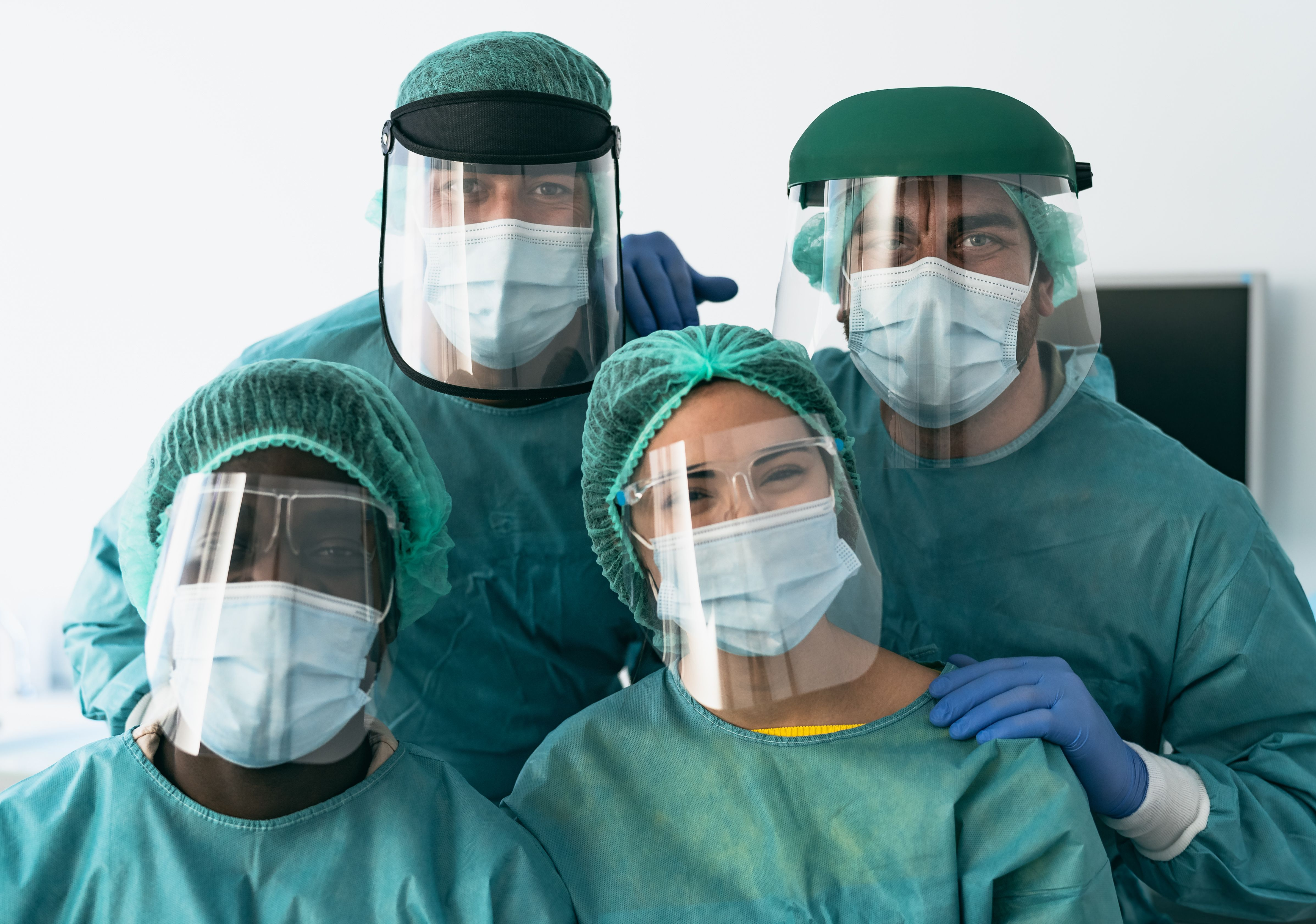 Group of doctors in PPE
