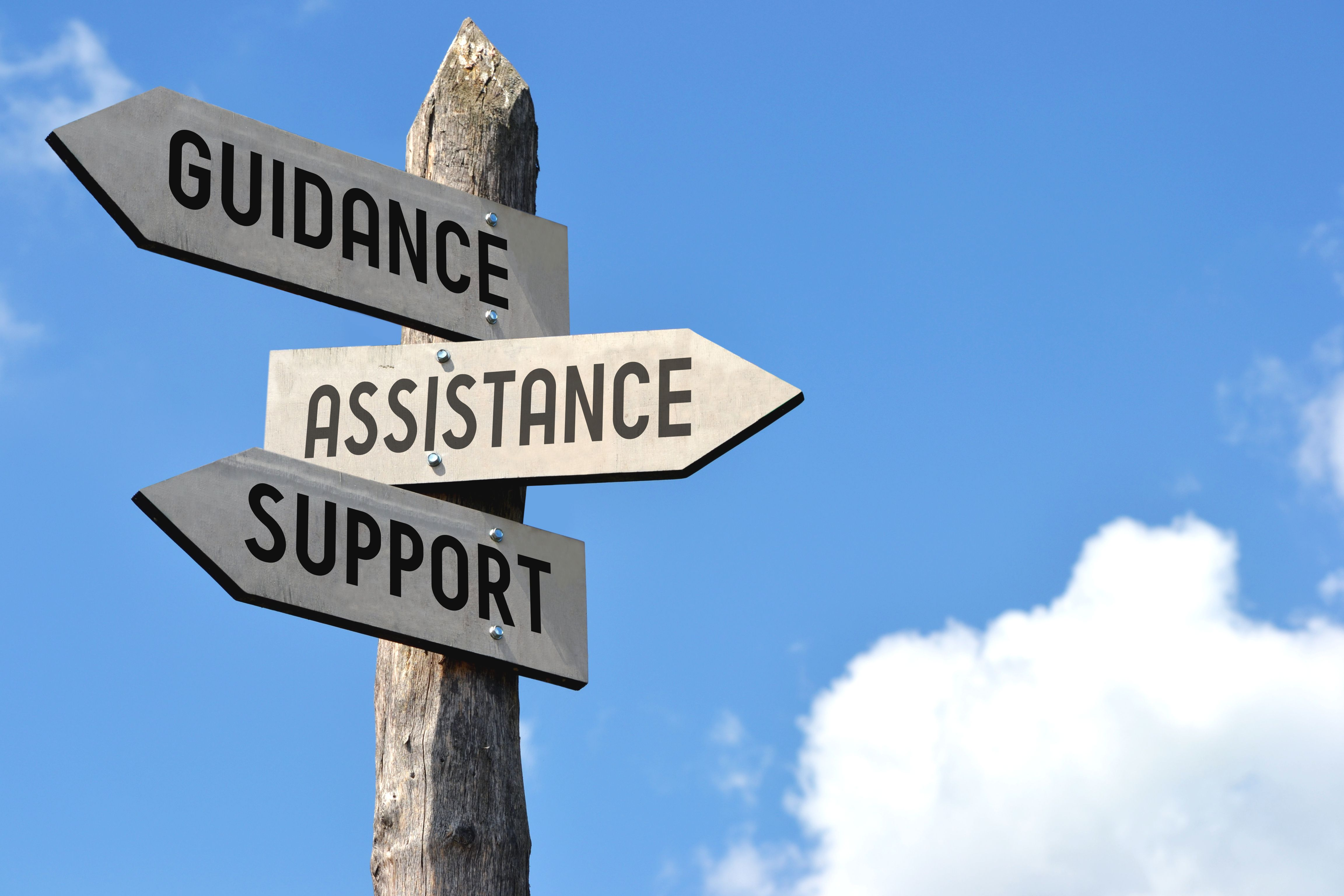 Guidance and support are key during tough times.