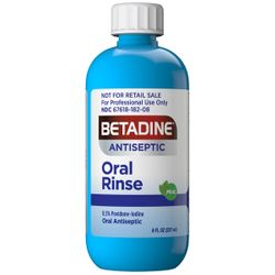 New Betadine Antiseptic Oral Rinse is for Use Professional Settings
