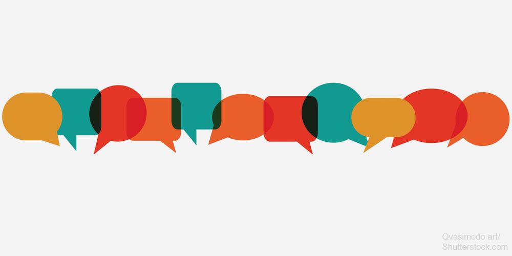 Small speech bubbles