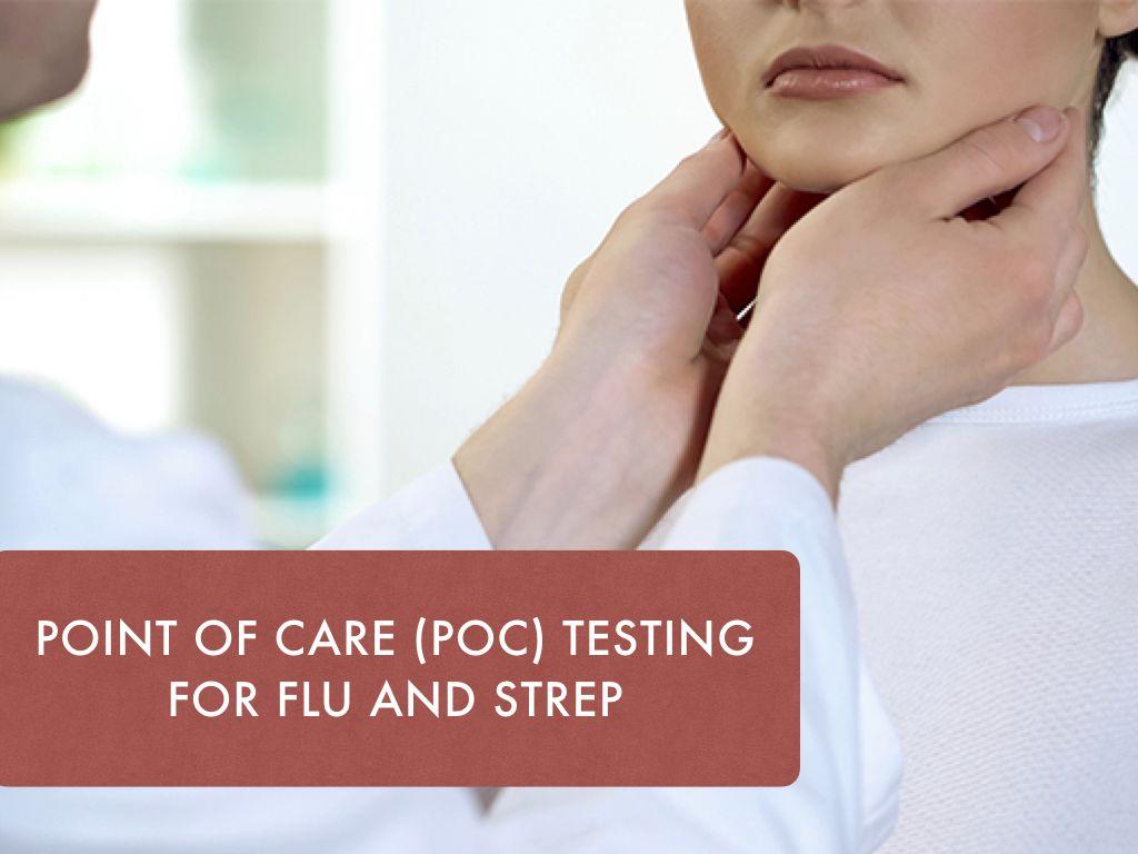 doctor examining patients neck