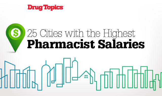 25 cities with the highest pharmacist salaries
