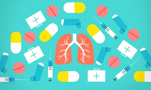 asthma drug illustration