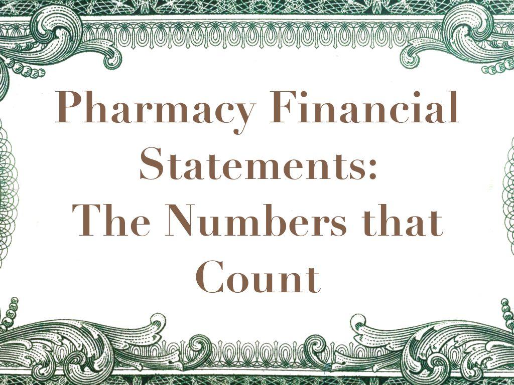 Pharmacy Financial Statement