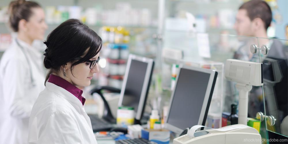 Pharmacists working in a pharmacy