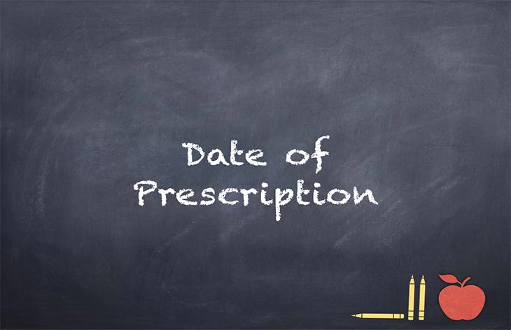 Sending Prescription Medications to a School –Date of Prescription