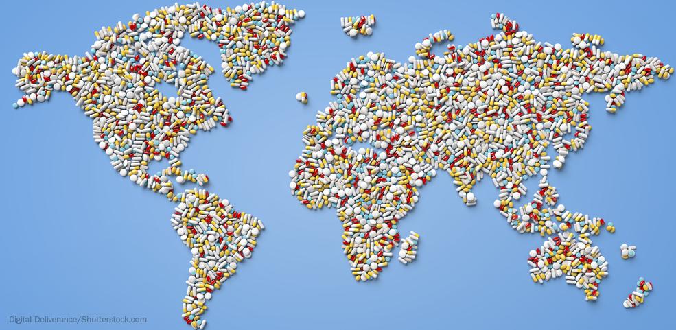 Map made of pills