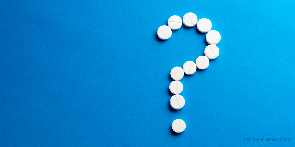 Question mark made of pills