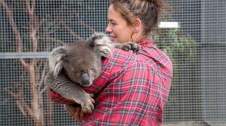 Woman with koala