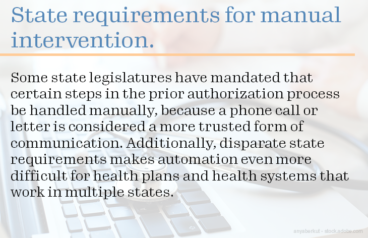 State requirements for manual intervention.