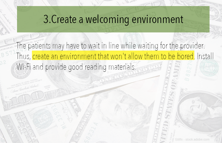 Create a welcoming environment