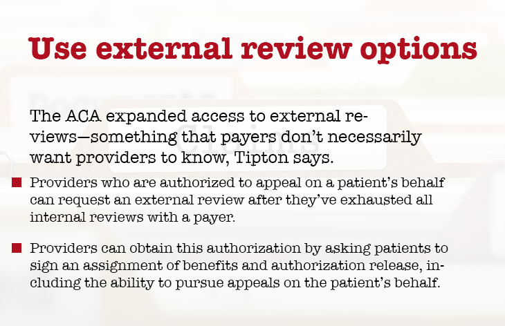 Use external review options