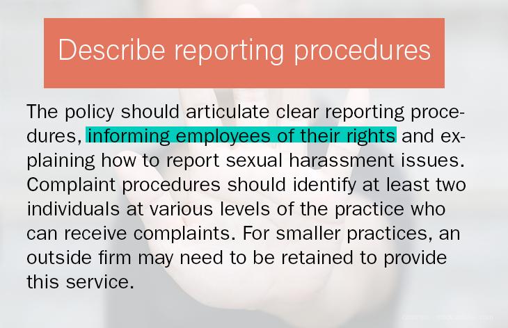 Describe reporting procedures
