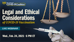 Free COVID-19 law, ethics webinar tomorrow