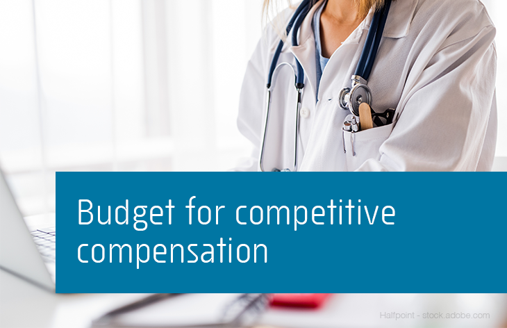 Budget for competitive compensation