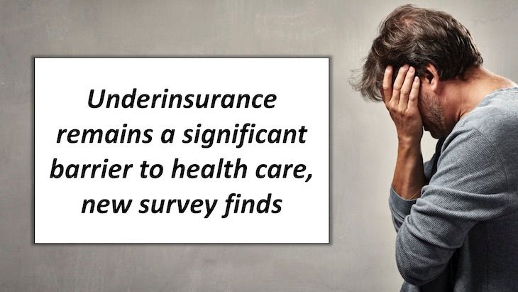 Underinsurance remains a significant barrier to health care, new survey  finds