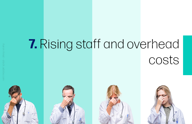 7. Rising staff and overhead costs
