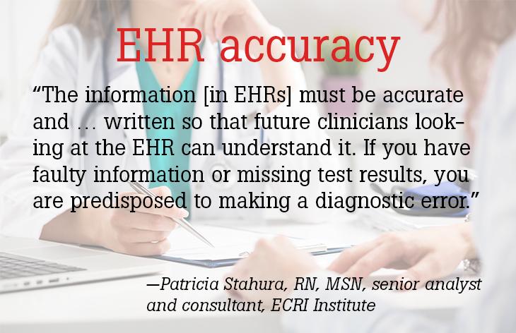 EHR accuracy