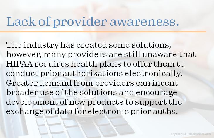 Lack of provider awareness.