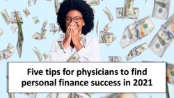 Five tips for physicians to find personal finance success in 2021